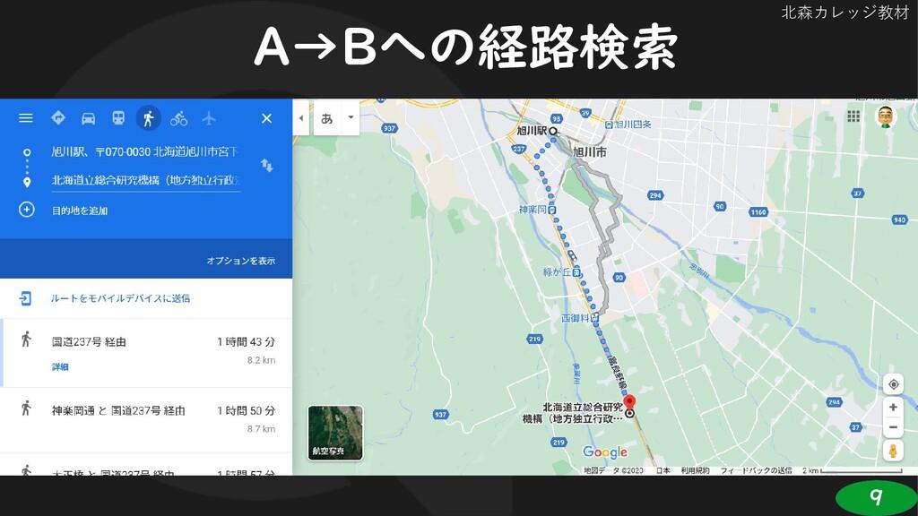 9 北森カレッジ教材 A→Bへの経路検索