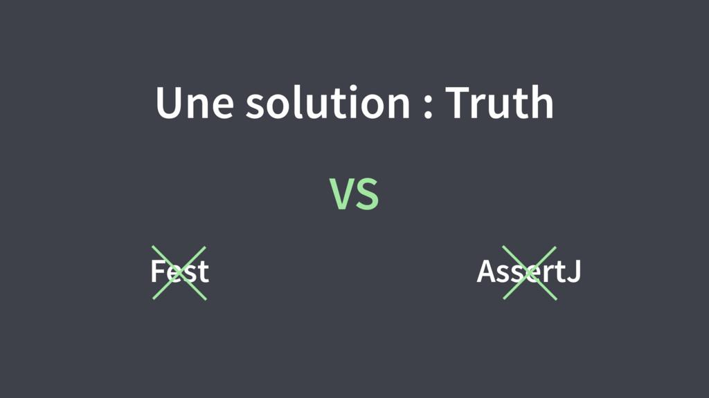 Une solution : Truth AssertJ Fest VS