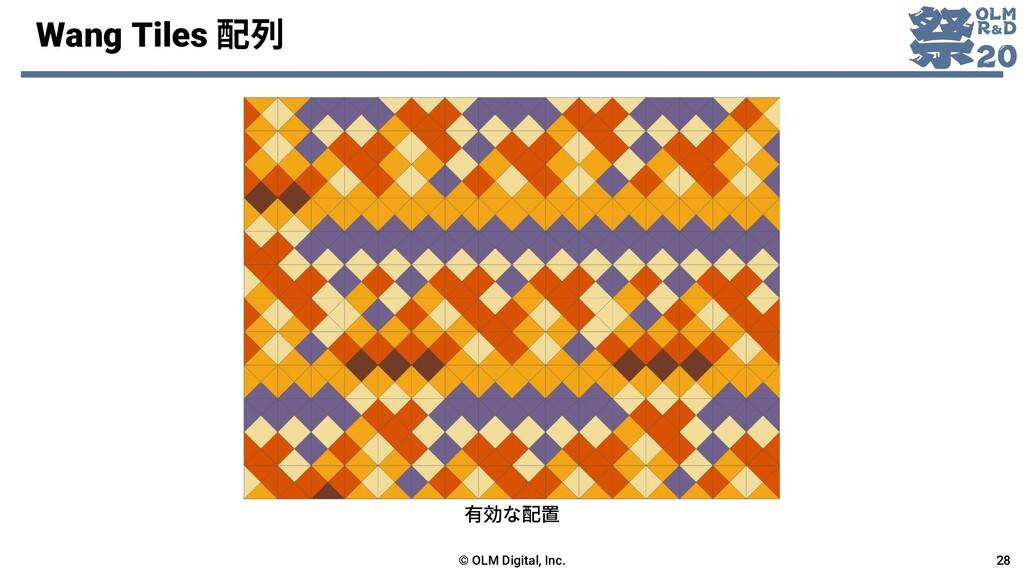 Wang Tiles 配列 © OLM Digital, Inc. 28 有効な配置