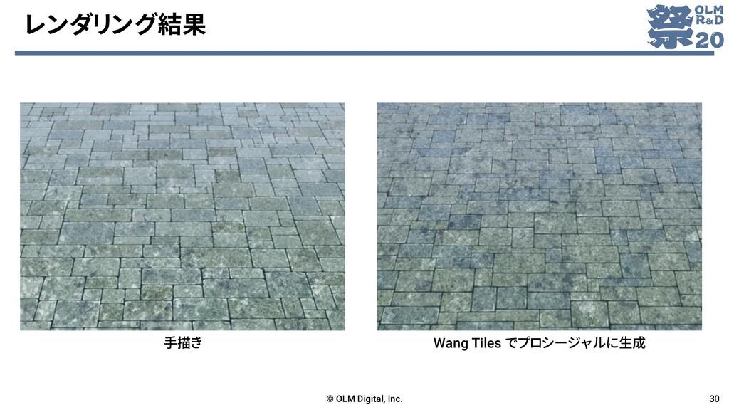 レンダリング結果 © OLM Digital, Inc. 30 手描き Wang Tiles ...