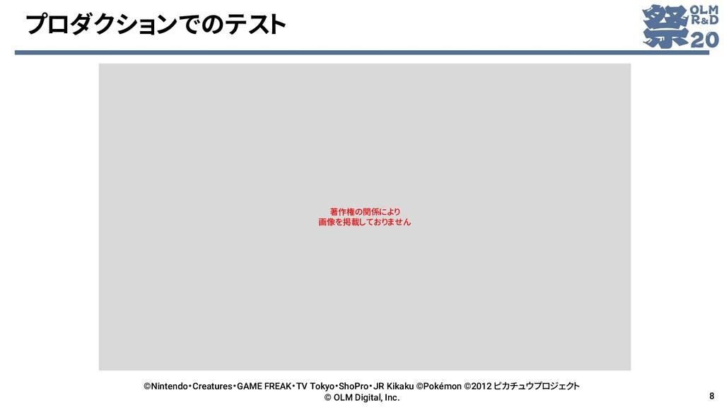 プロダクションでのテスト ©Nintendo・Creatures・GAME FREAK・TV ...