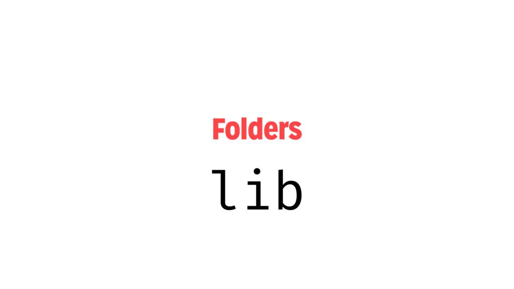 Folders lib