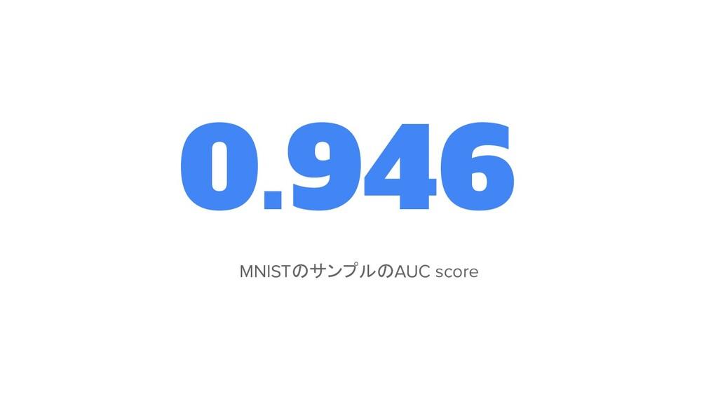 0.946 MNISTのサンプルのAUC score