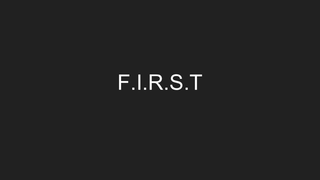 F.I.R.S.T