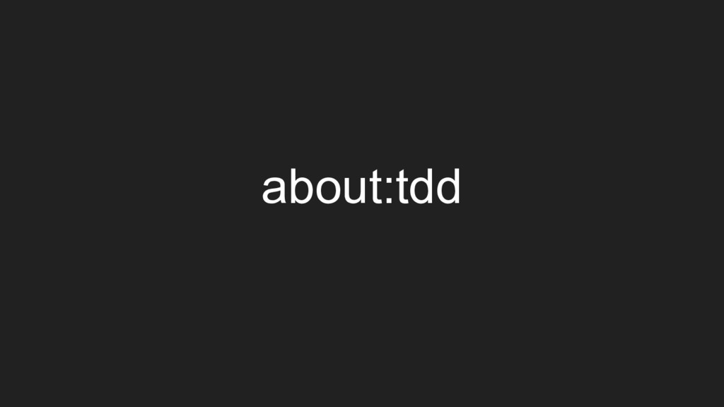 about:tdd