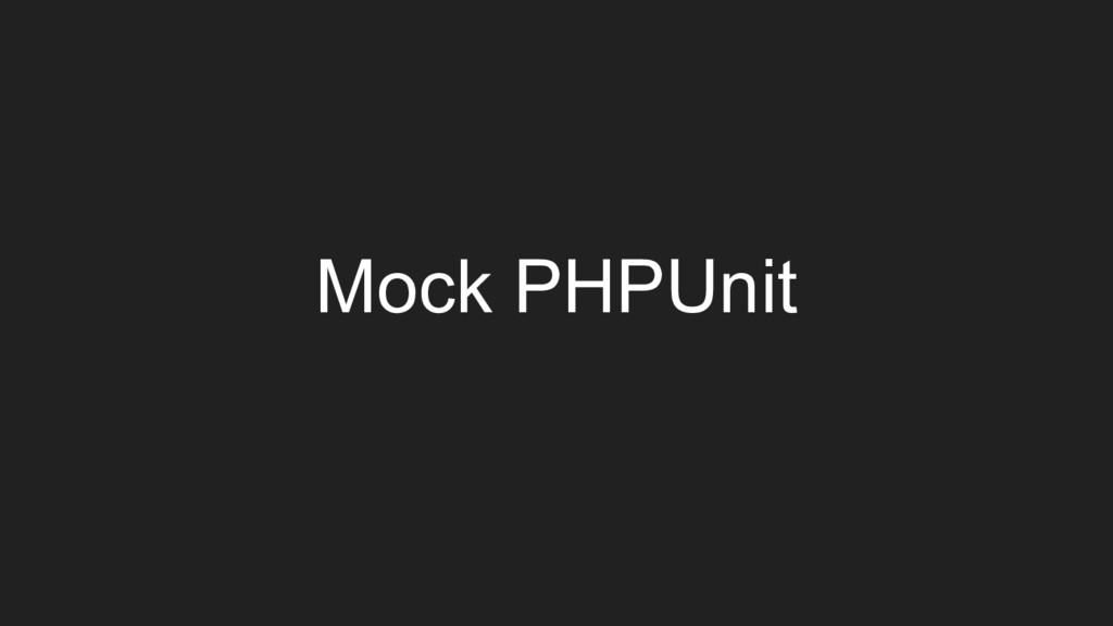 Mock PHPUnit