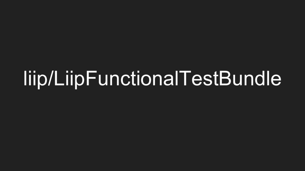 liip/LiipFunctionalTestBundle