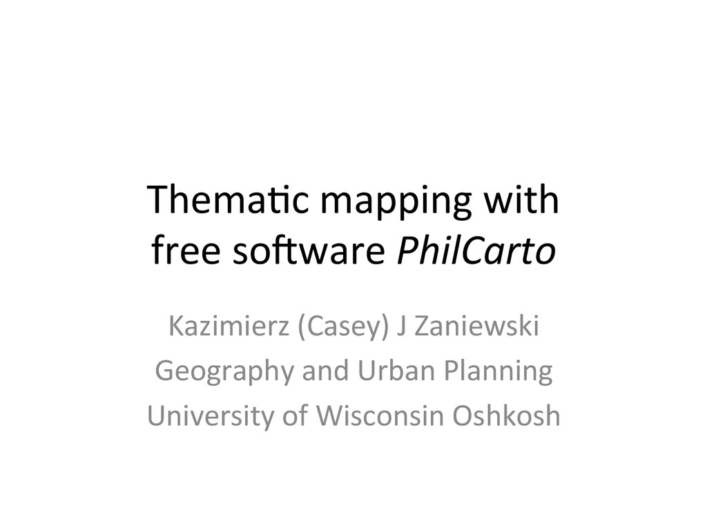 Thema&c mapping with  free so3ware...
