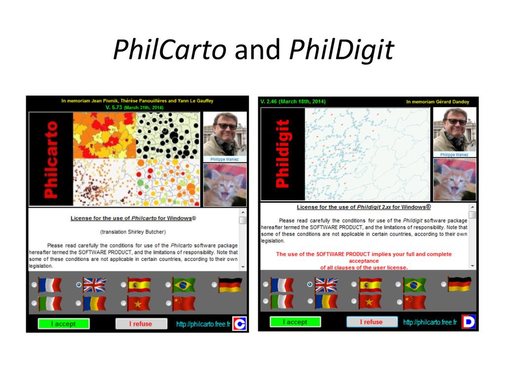 PhilCarto and PhilDigit