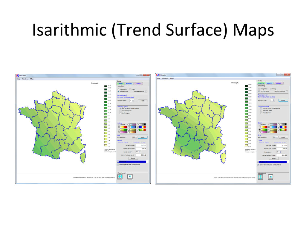 Isarithmic (Trend Surface) Maps