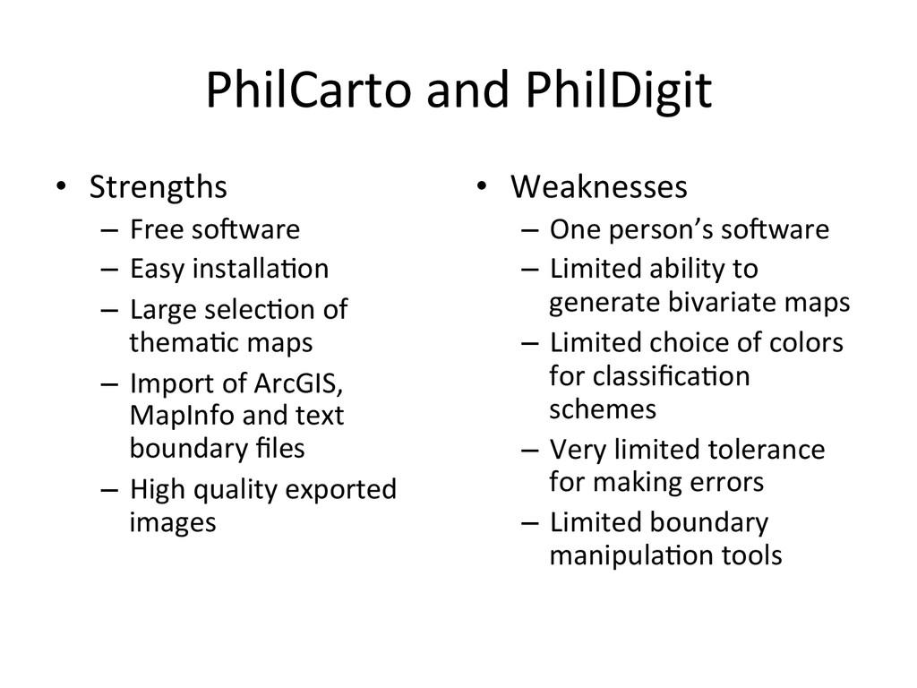 PhilCarto and PhilDigit   • Streng...