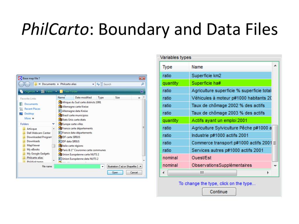 PhilCarto: Boundary and Data Files...