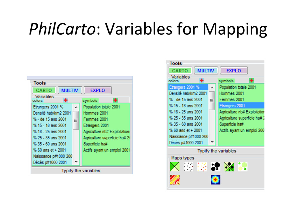 PhilCarto: Variables for Mapping