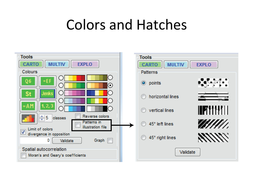 Colors and Hatches