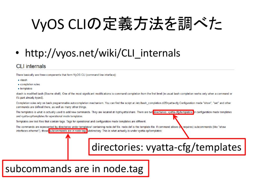 VyOS CLIの定義方法を調べた • http://vyos.net/wiki/CLI_in...