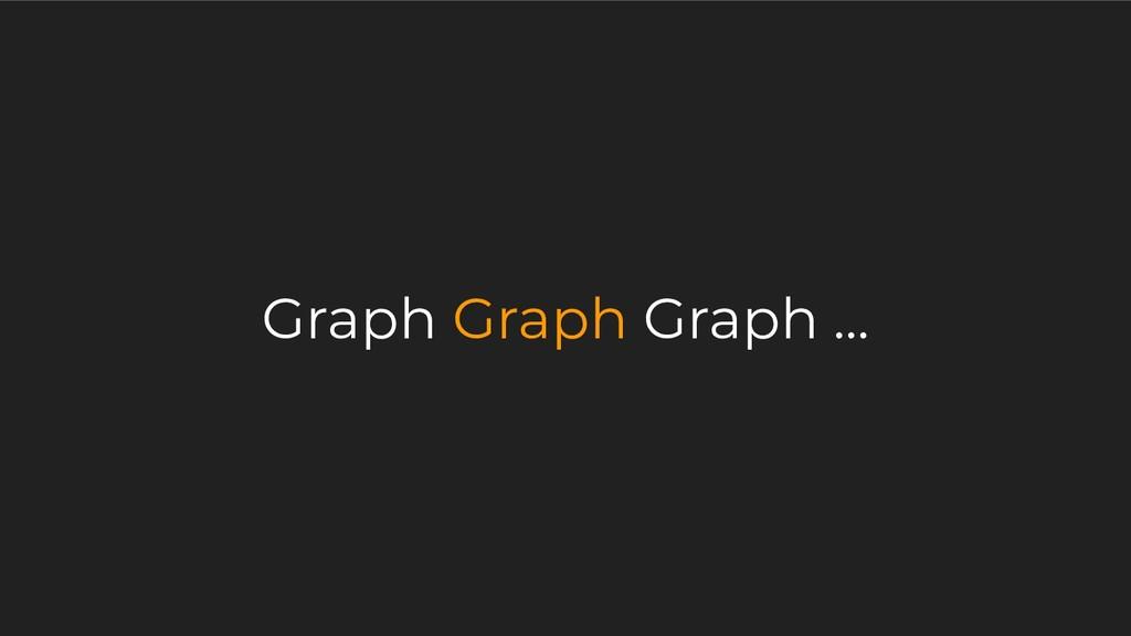 Graph Graph Graph ...