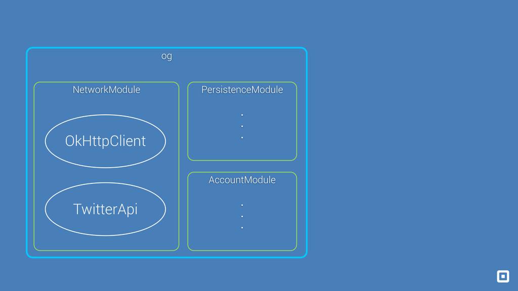 OkHttpClient TwitterApi NetworkModule Persisten...