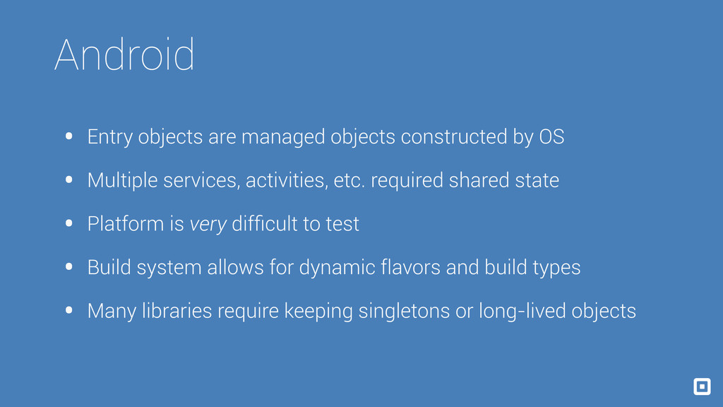 Android • Entry objects are managed objects con...