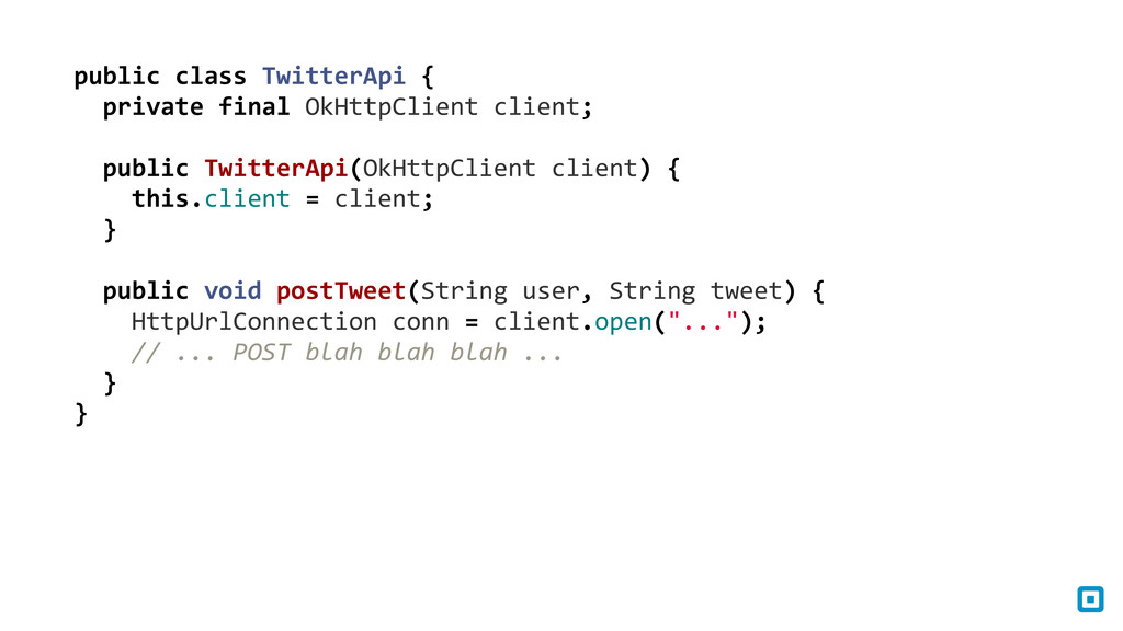 public class TwitterApi {   priv...