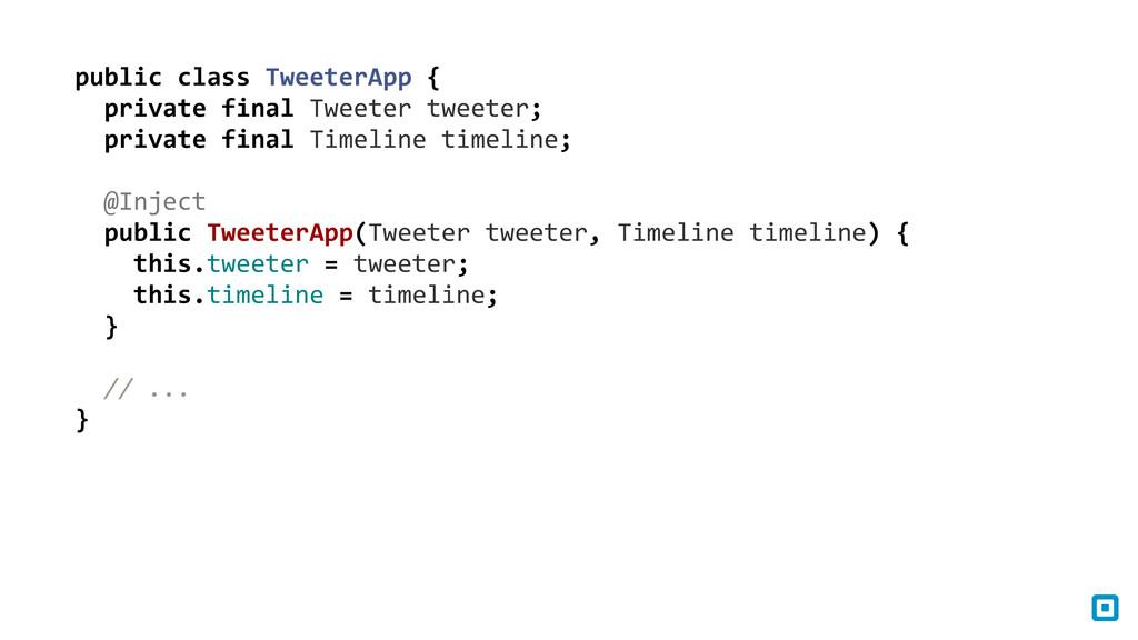 public class TweeterApp {   priv...