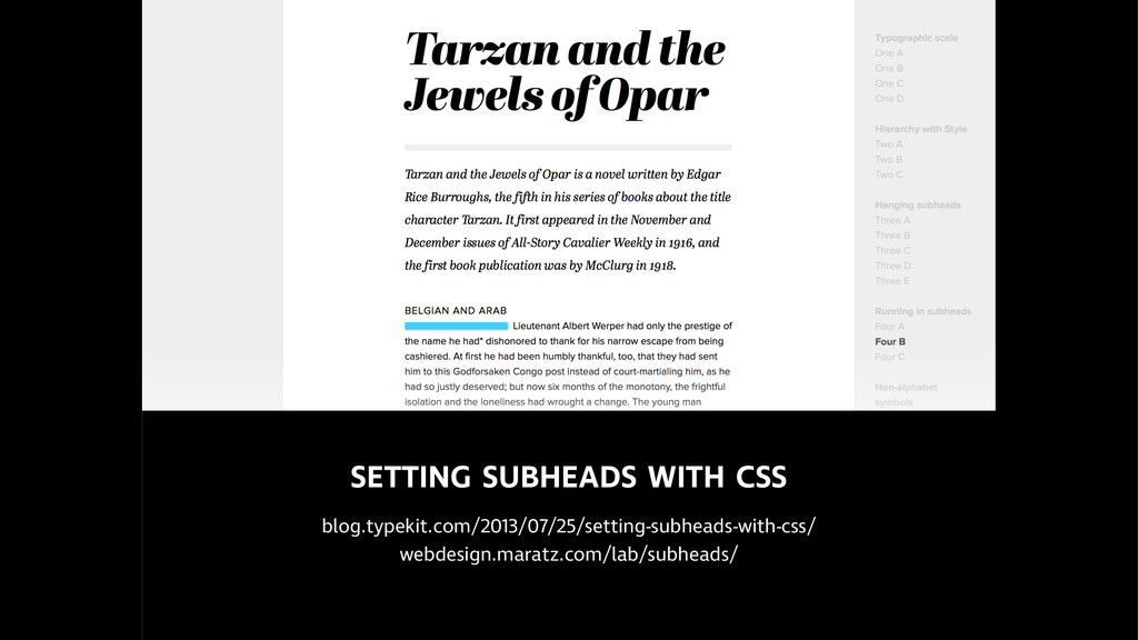 SETTING SUBHEADS WITH CSS  blog.typekit.com/20...