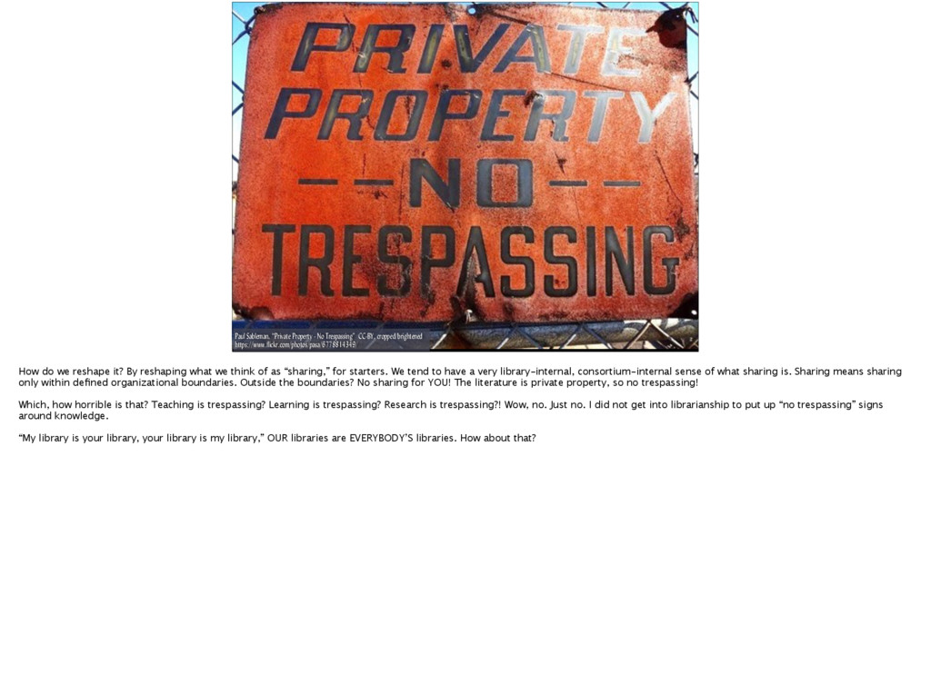 "Paul Sableman, ""Private Property - No Trespassi..."