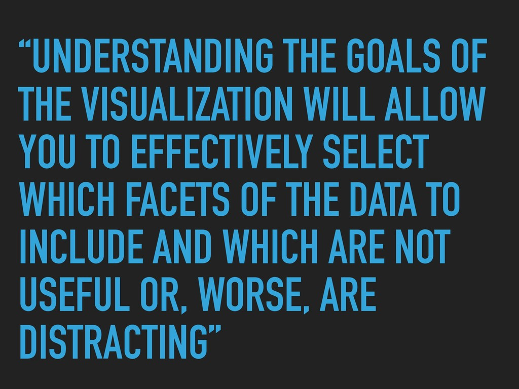 """""""UNDERSTANDING THE GOALS OF THE VISUALIZATION W..."""