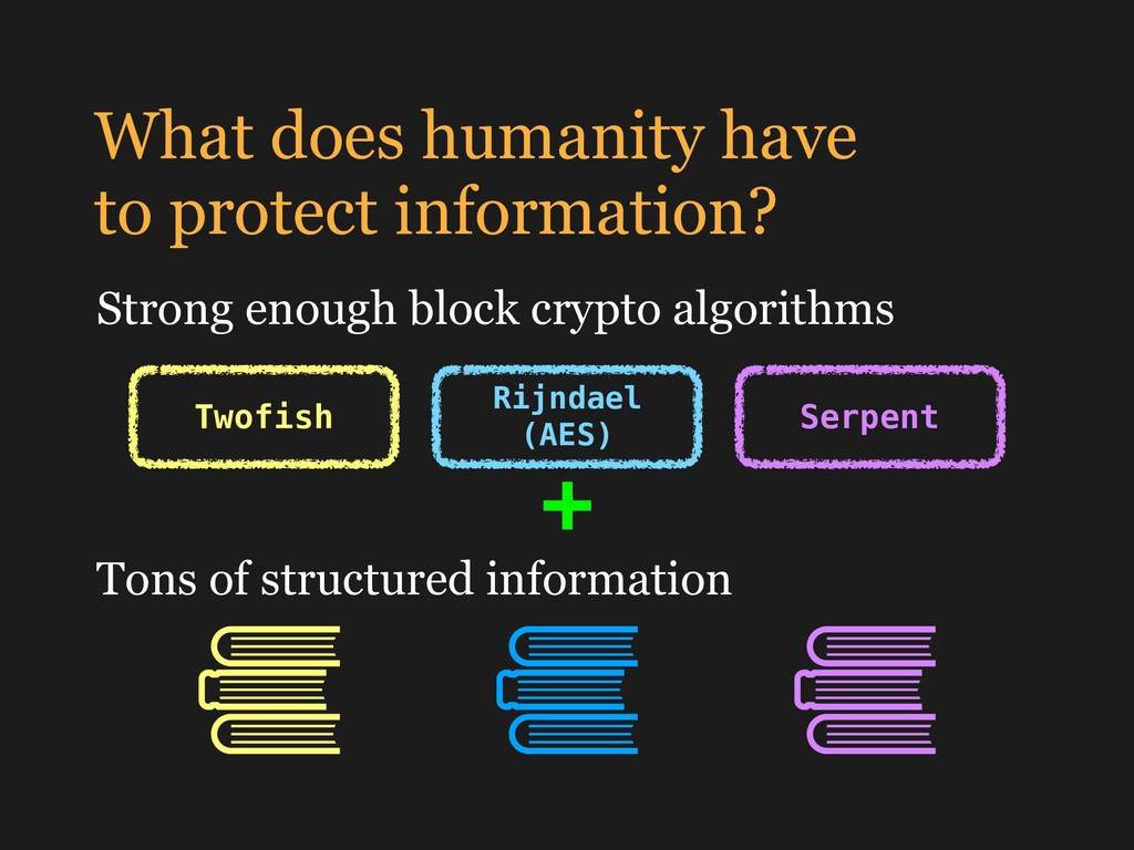 What does humanity have to protect information...