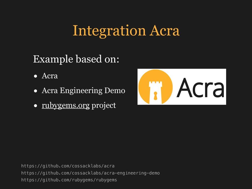 Integration Acra • Acra • Acra Engineering Demo...