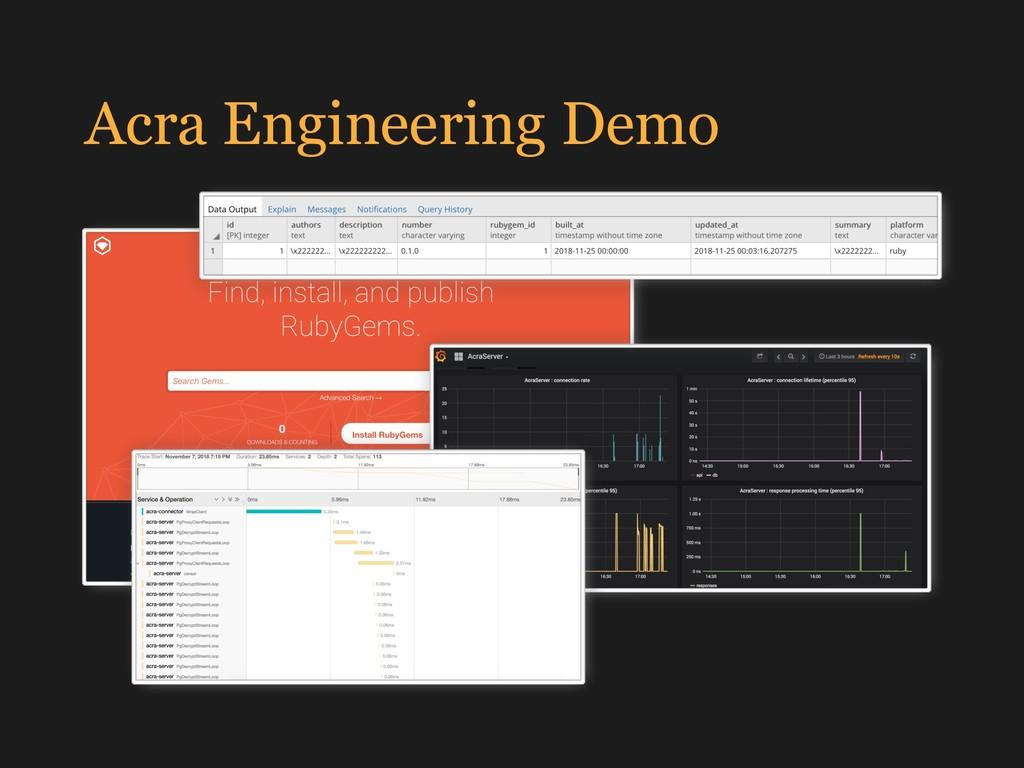 Acra Engineering Demo