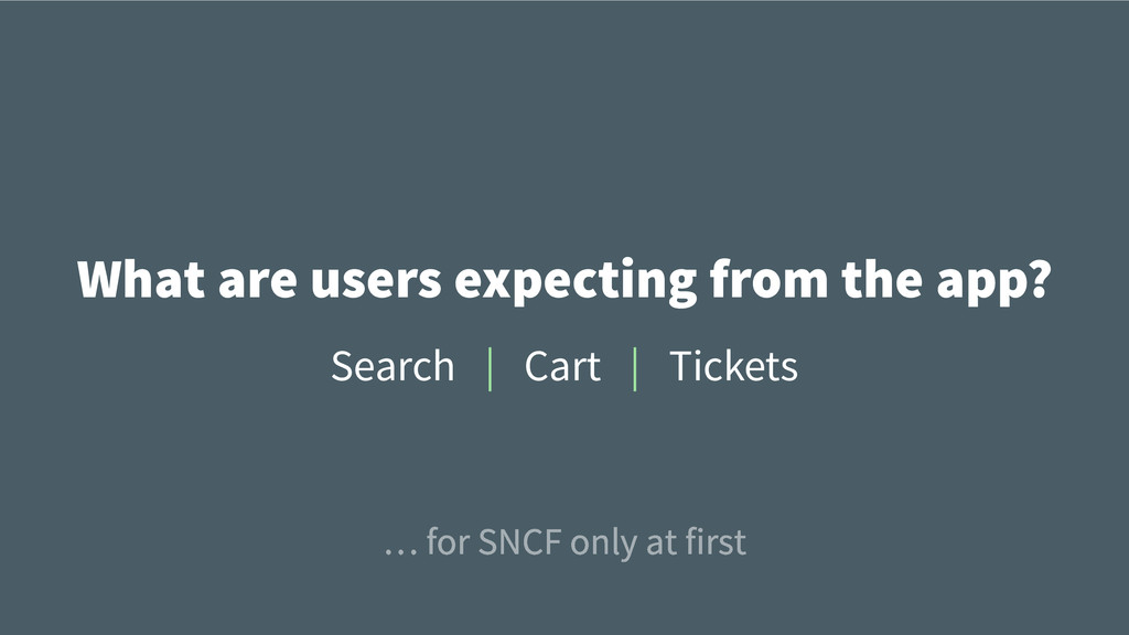 What are users expecting from the app? Cart Tic...