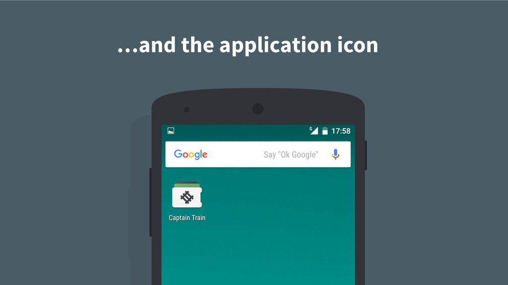 …and the application icon