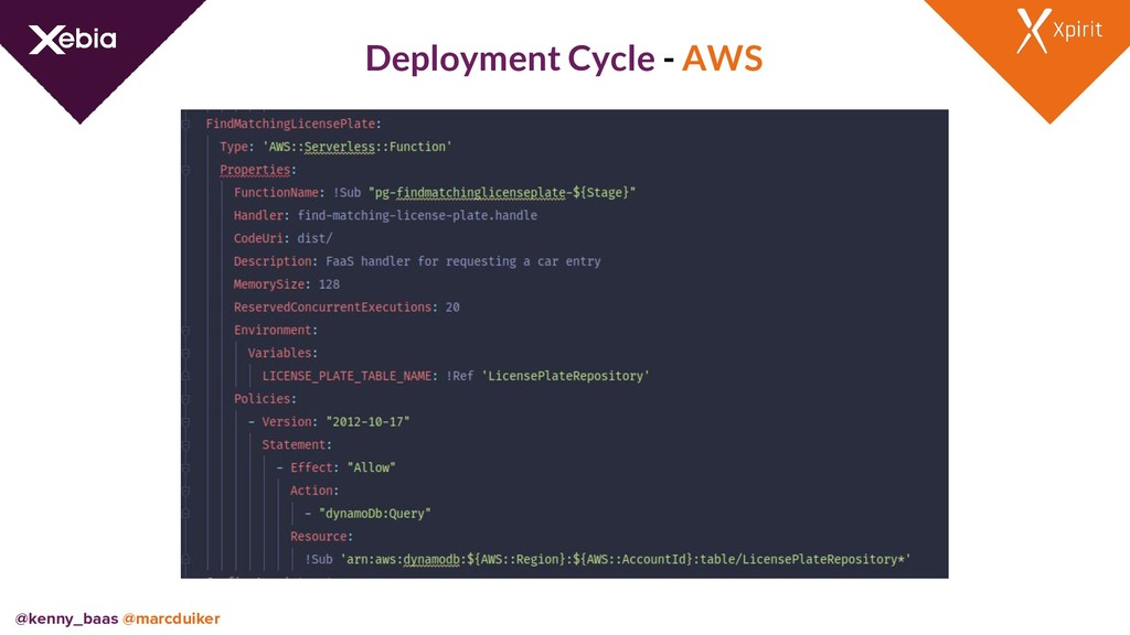 Deployment Cycle - AWS @kenny_baas @marcduiker