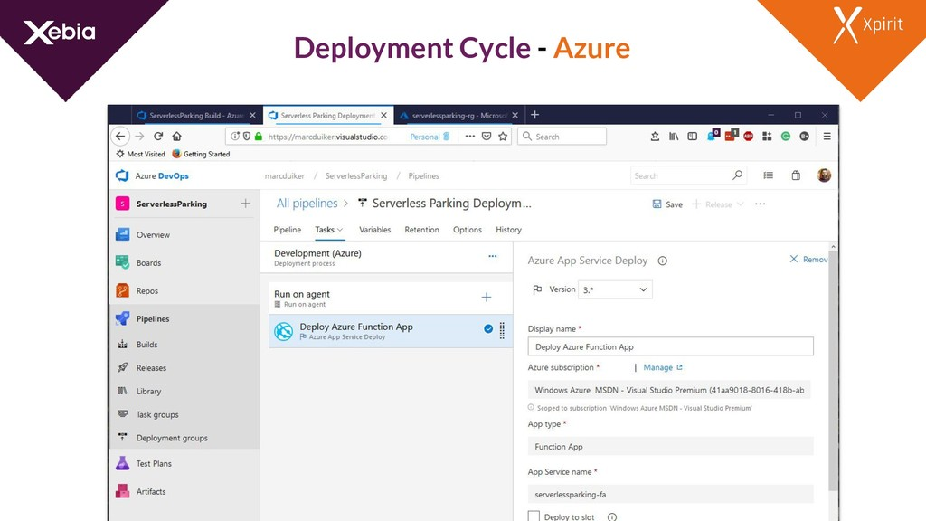 Deployment Cycle - Azure
