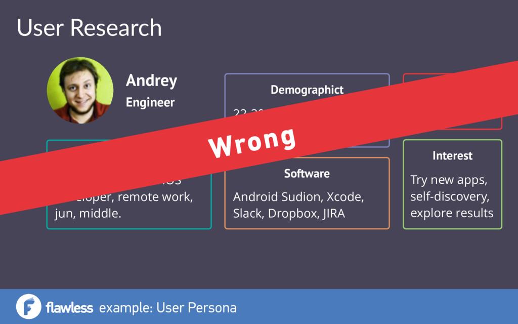 example: User Persona Engineer Andrey Occupatio...