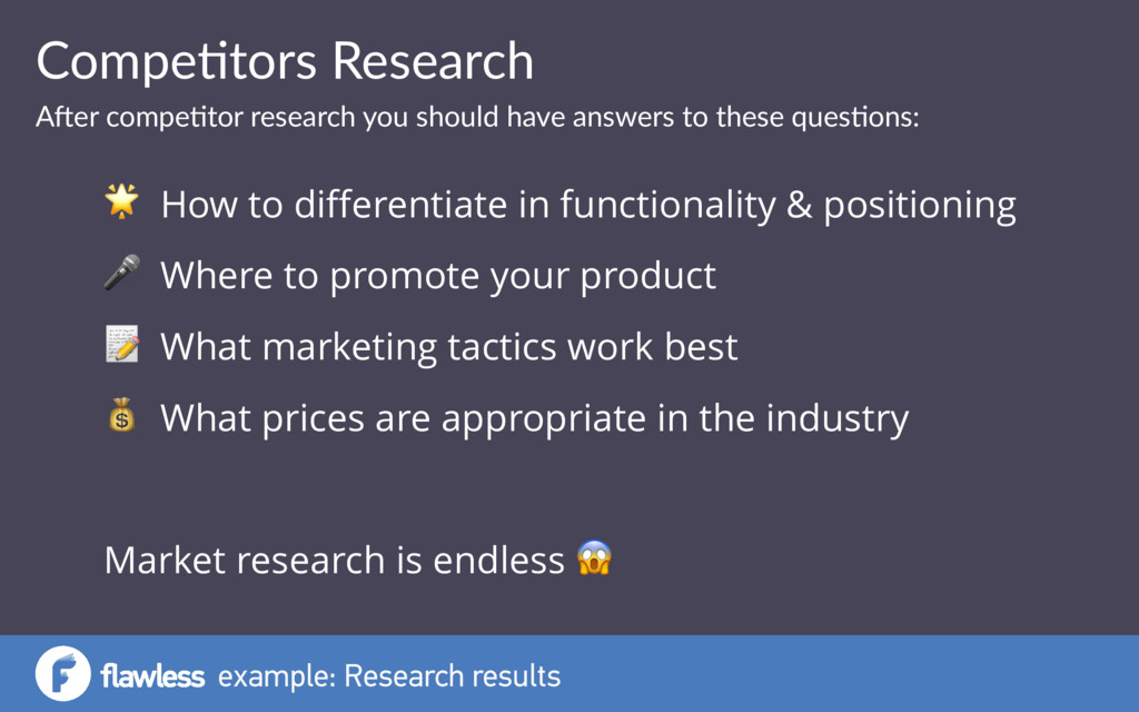 example: Research results Compe&tors Research A...