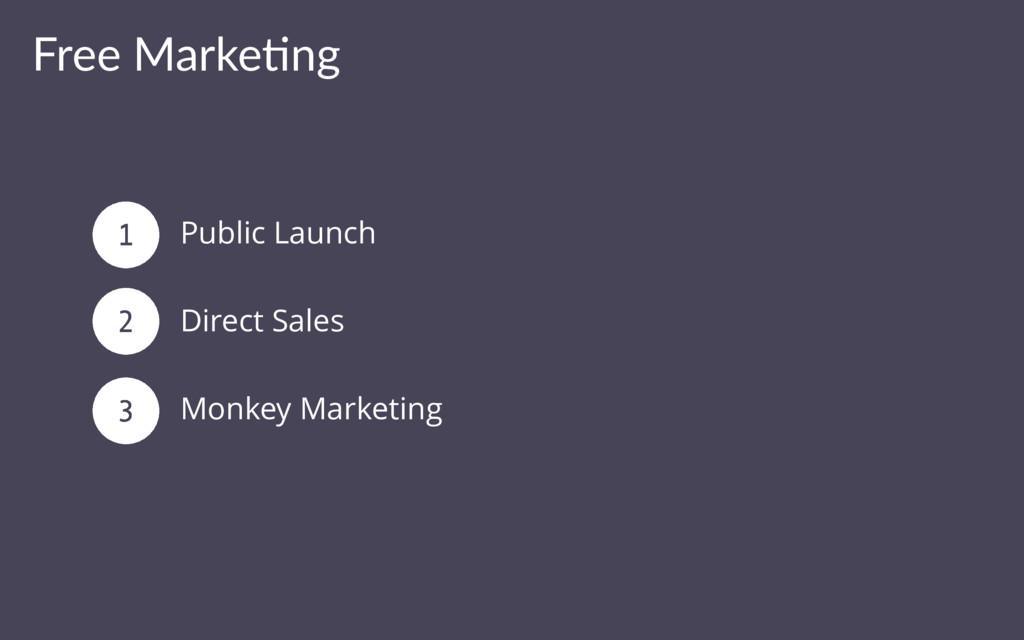 Free Marke(ng Public Launch Direct Sales Monkey...