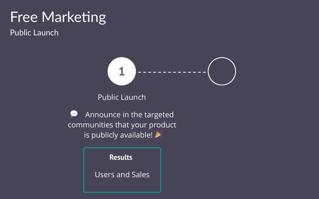 Free Marke(ng Public Launch 1 Public Launch ! A...