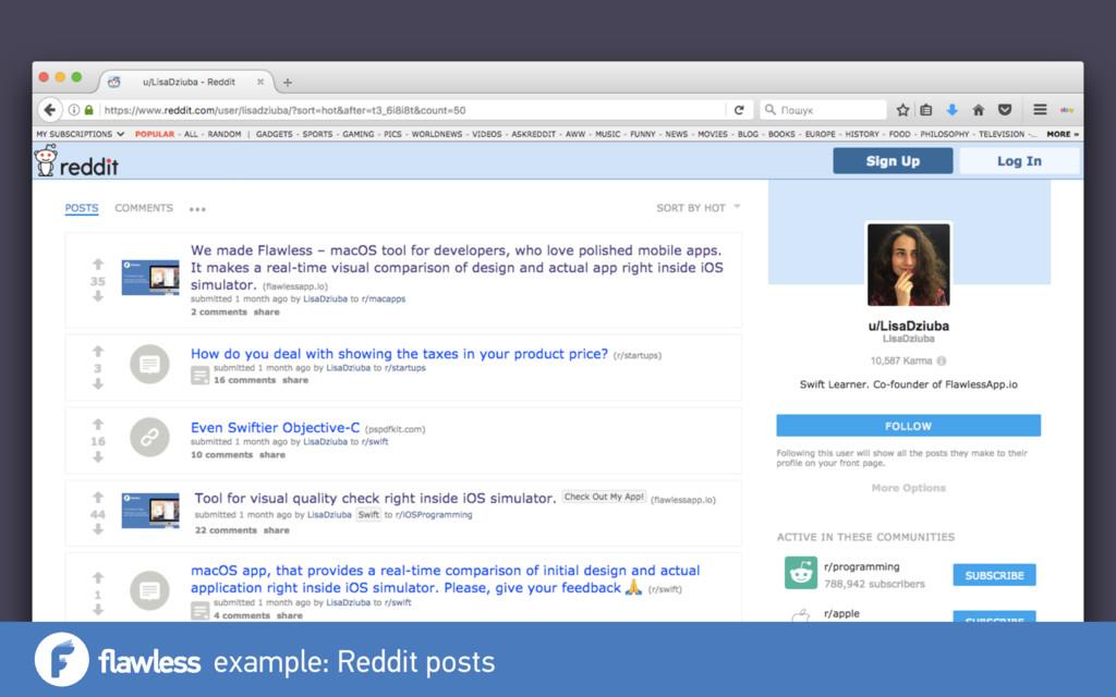example: Reddit posts