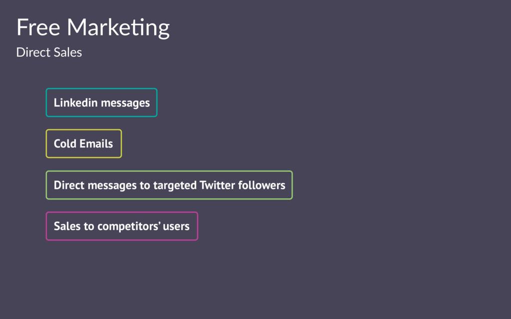 Free Marke(ng Direct Sales Linkedin messages Co...