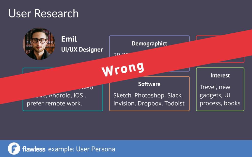 User Research example: User Persona UI/UX Desig...