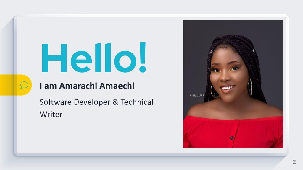 Hello! I am Amarachi Amaechi Software Developer...