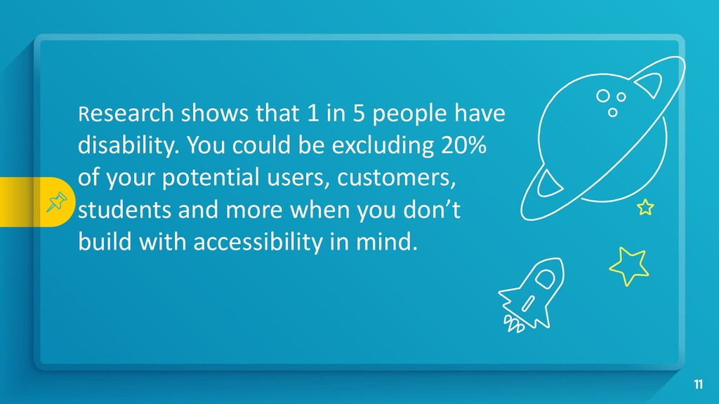 Research shows that 1 in 5 people have disabili...