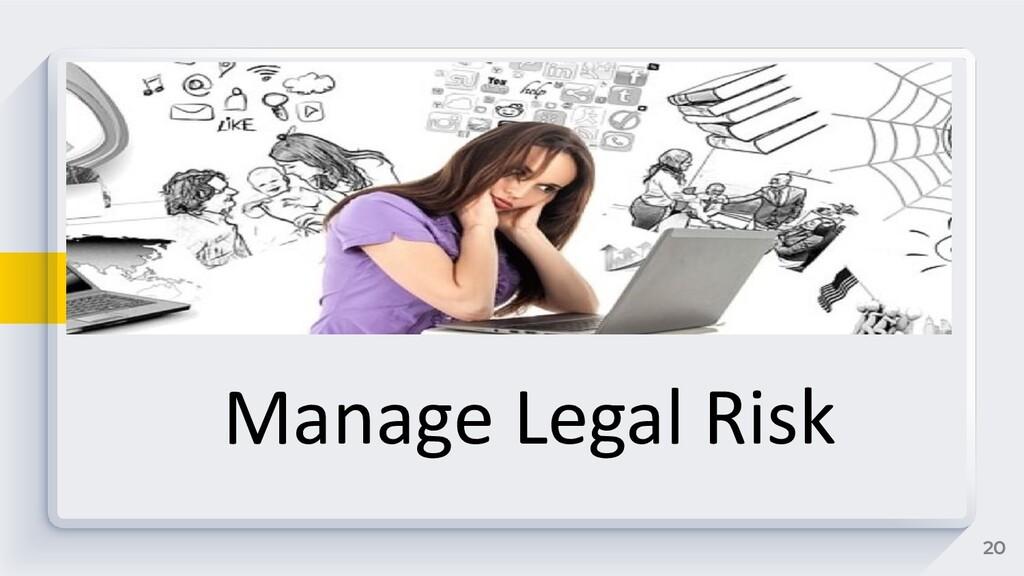 20 Manage Legal Risk