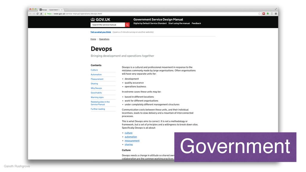 Gareth Rushgrove Government