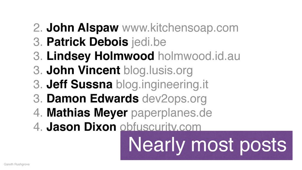 2. John Alspaw www.kitchensoap.com! 3. Patrick ...