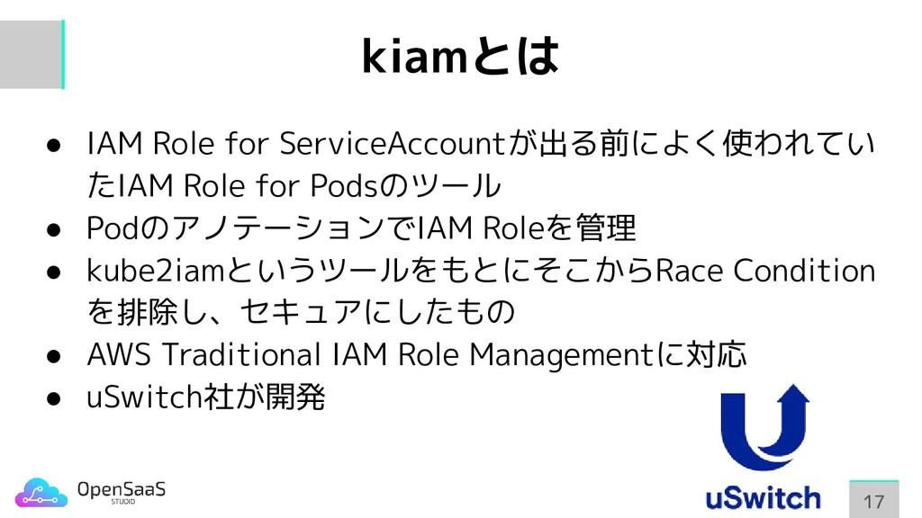 kiamとは ● IAM Role for ServiceAccountが出る前によく使われて...