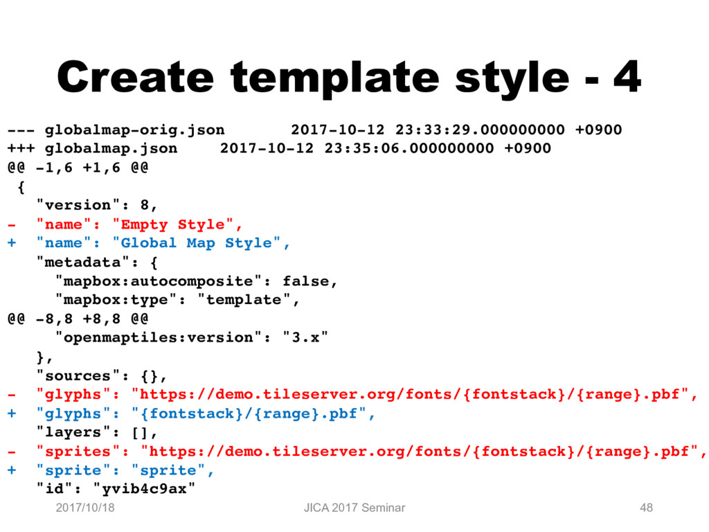 Create template style - 4 2017/10/18 JICA 2017 ...