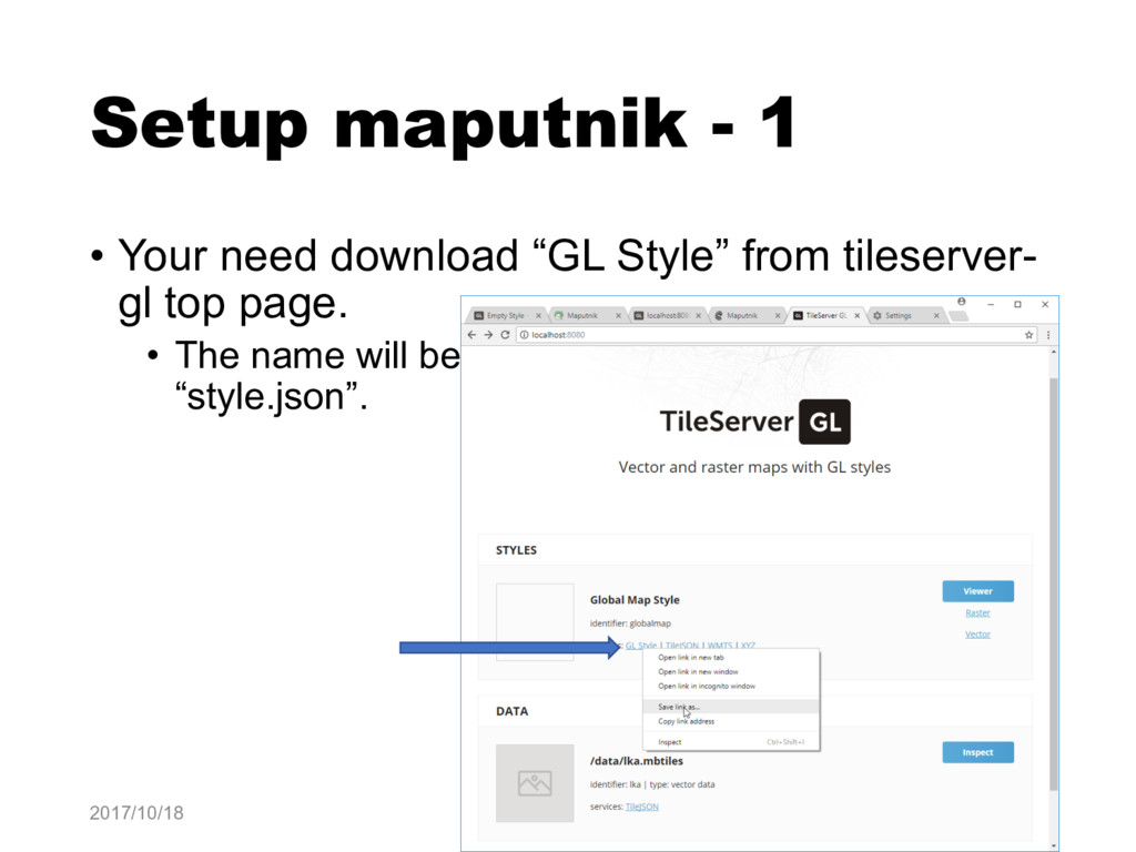 "Setup maputnik - 1 • Your need download ""GL Sty..."