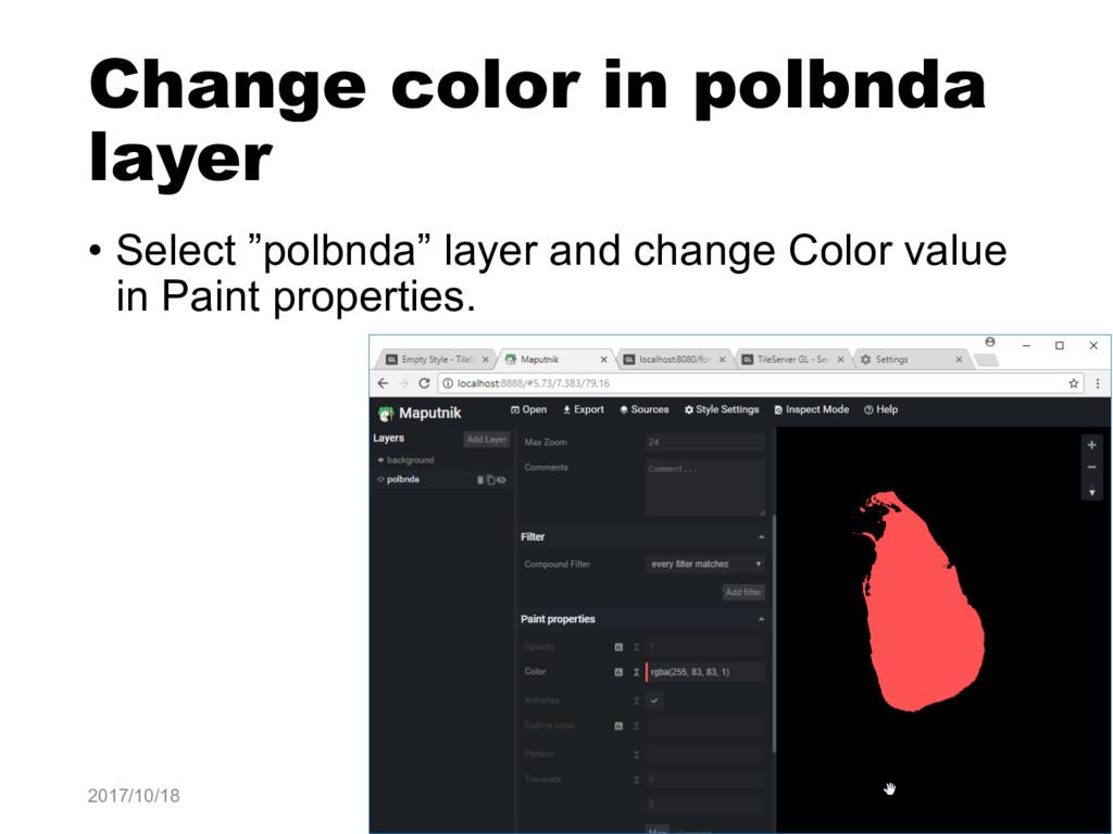 """Change color in polbnda layer • Select """"polbnda..."""